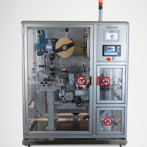 Tamper-evident Labelling Machine Pharma Seal Top