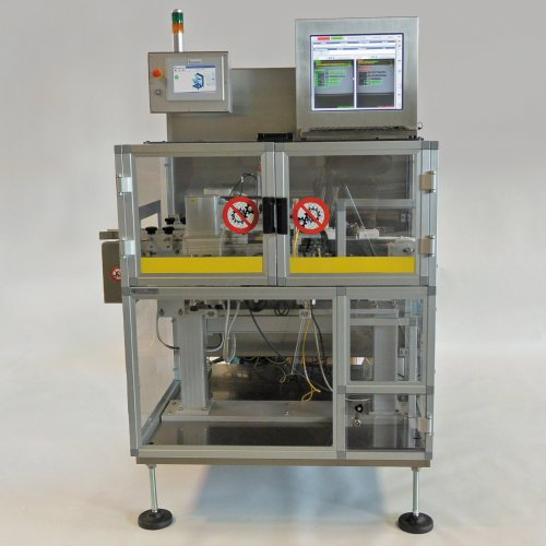 Automatic system for serialization and track and trace of pharmaceutical boxes