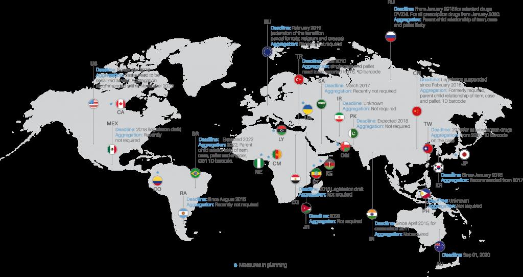 Mappa mondiale serializzazione EN