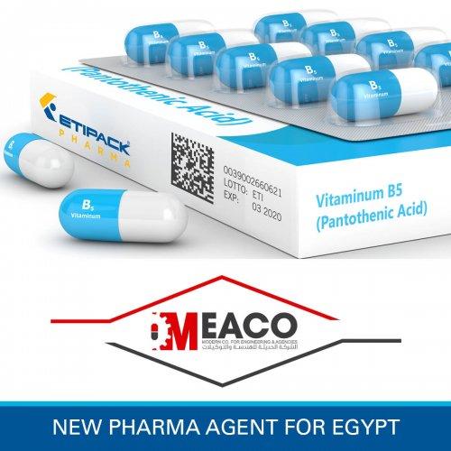 MEACO nuovo agente esclusivo per il mercato Pharma in Egitto