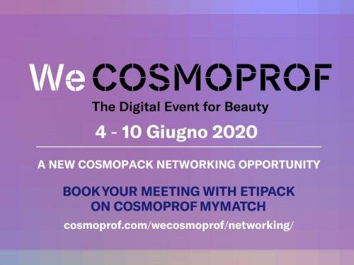 WeCosmoprof: Etipack presente al networking digitale per l'industria cosmetica