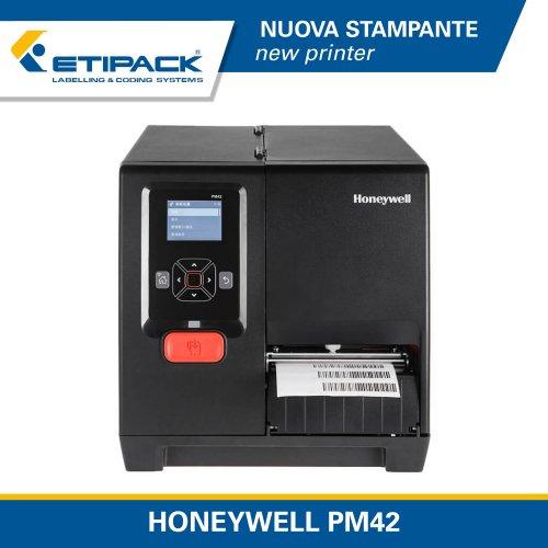 Nuova stampante industriale Honeywell PM42 nel catalogo Etipack