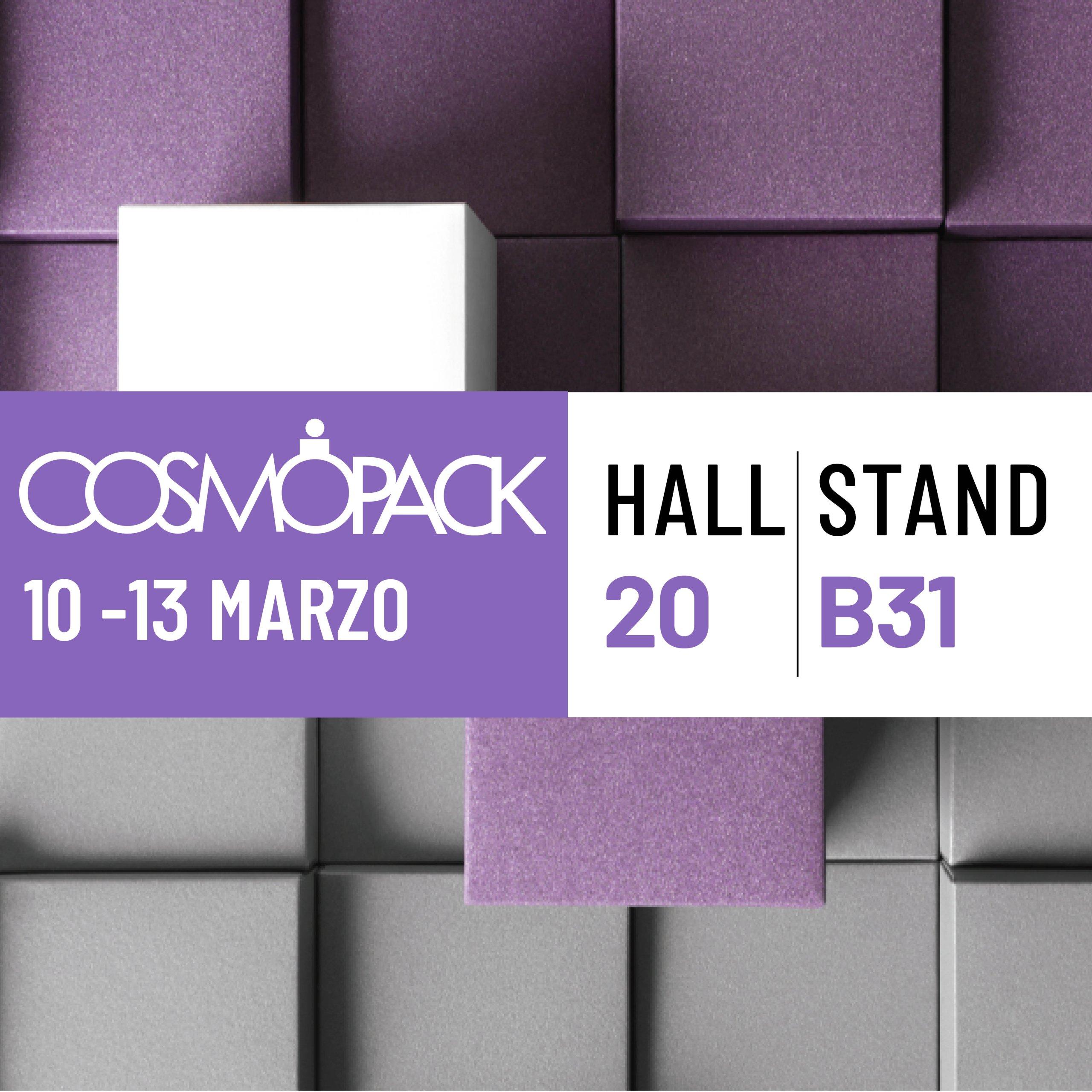 Etipack date partecipazione a Cosmopack 2022
